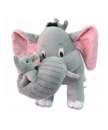 Deals India Mother Elephant With 2 Babies Soft Toy Grey - 38 cm
