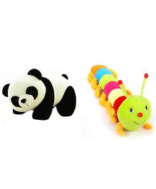 Deals India Panda Soft Toy And Caterpillar Combo - Multicolor