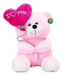 Deals India I Love You Balloon Heart Teddy Pink - 20 cm