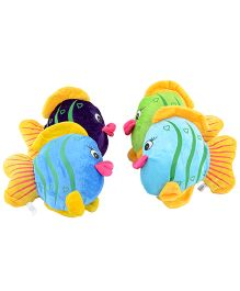 Deals India Fish Soft Toy Multicolor Set Of 4 - 17 cm