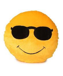 Deals India Cool Dude Smiley Cushion Yellow - 35 cm