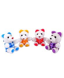 Deals India Little Teddy Bears Set of 4 Multicolor - 17 cm