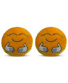 Deals India Hugging Smiley Cusion Set Of 2 - Yellow