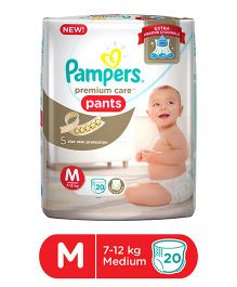 Pampers Premium Care Pant Style Diapers Medium - 20 Pieces