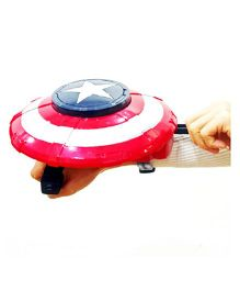 Emob Captain Hero Blaster Shield Coin Launcher - Red Blue