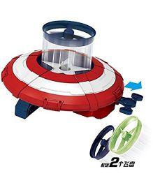 Emob Captian Man Revange Hero Alliance Super Power Blaster Shield Launcher - White Red