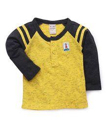 Little Kangaroos Full Sleeves T-Shirt - Yellow