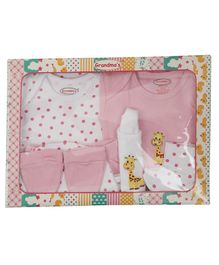 Grandma's Clothing Gift Set Box Pack of 8 - Pink White