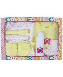 Grandma's Clothing Gift Set Box Pack of 10 - Yellow