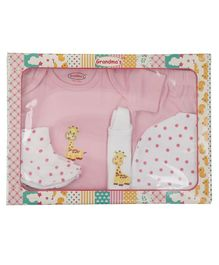 Grandma's Clothing Gift Set Box Pack of 5 - Pink
