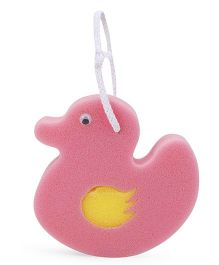 Baby Bath Sponge Duck Shape - Pink