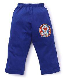 Red Ring Full Length Track Pants Doraemon Print - Blue