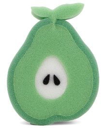 Pear Fruit Shaped Bathing Sponge - Green