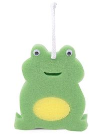 Frog Shape Bathing Sponge - Green