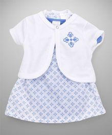 Wonderchild Dress With Bodysuit & Shrug - Blue