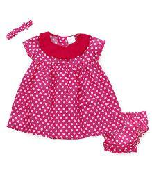 Wonderchild Dress With Bloomer & Headband - Pink