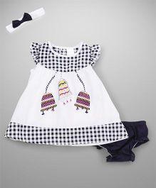 Wonderchild Dress With Bloomer & Headband - White