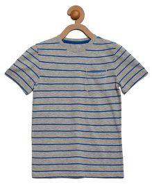 Litl Hopkins Striped Tee - Grey