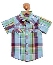 Litl Hopkins Checkered Half Sleeves Casual Shirt - Multicolor