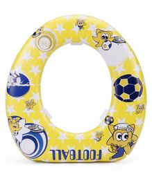 Babyhug Soft Cushioned Potty Seat Football Print - Yellow