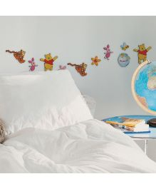 Decofun Winnie The Pooh Foam Wall Sticker Pack Of 24  - Multi Color