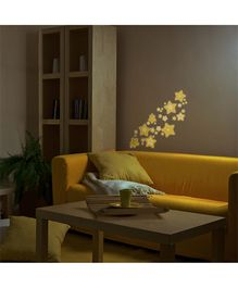 Home Decor Line Glow In Dark Wall Sticker - Yellow
