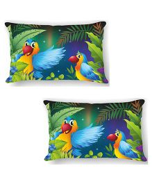 Ambbi Collections Cushion Cover Parrots Design Multicolor - 2 Pieces