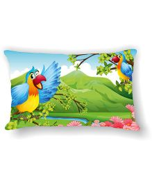 Ambbi Collections Cushion Cover Parrots Design - Multicolor
