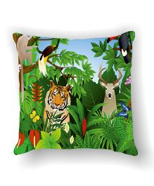Ambbi Collections Cushion Cover Tiger Design - Multicolor