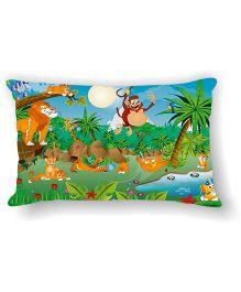 Ambbi Collections Cushion Cover Monkey Design - Multicolor