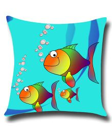 Ambbi Collections Cushion Cover Fish Design - Blue