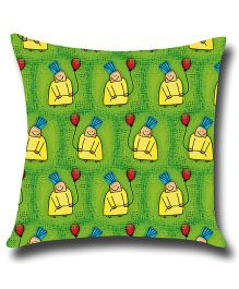 Ambbi Collections Printed Cushion Cover - Green