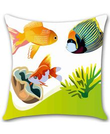Ambbi Collections Cushion Cover Fish Design - Multicolor