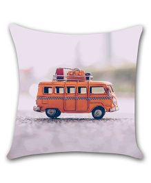Ambbi Collections Cushion Cover Van Print - Grey
