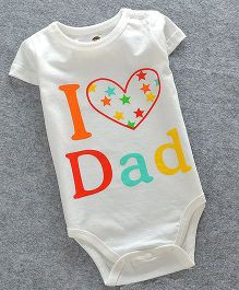 Lil Mantra I Love Dad Print Onesie - White