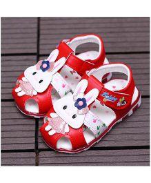 Alle Alle Cute Rabbit Design Led Light Sandals - Red