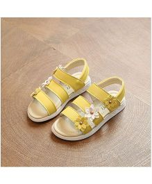 Alle Alle Smart Sandals With Floral Appliques - Yellow
