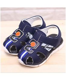 Alle Alle Basketball Printed Sandals - Navy Blue