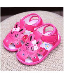 Alle Alle Musical Sandals Rabbit Patch  - Dark Pink