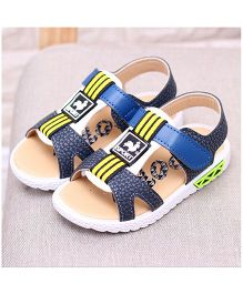 Alle Alle Sandals With Velcro Closure - Blue White