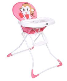 Baby High Chair Monkey Print - Pink
