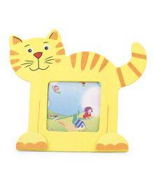 Cat Shape Photo Frame - Yellow