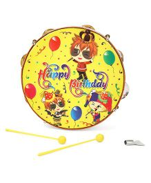 Mansaji Dafli Happy Birthday Print - Yellow