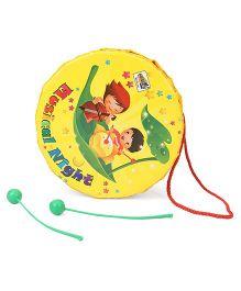 Mansaji Toy Drum Set Star Print - Yellow