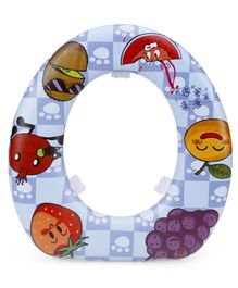 Babyhug Soft Cushioned Potty Seat Fruits Print - Blue
