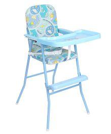 New Natraj High Chair Multi print - Blue
