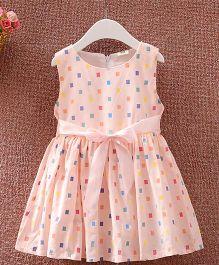 Superfie Cotton Dress For Girls - Pink