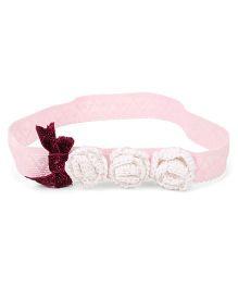 Soulfulsaai Pretty Roses Stretchable Headband - Pink