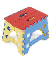 Folding Baby Stool - Red Blue Yellow