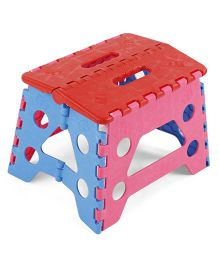 Folding Baby Stool - Red Blue Pink